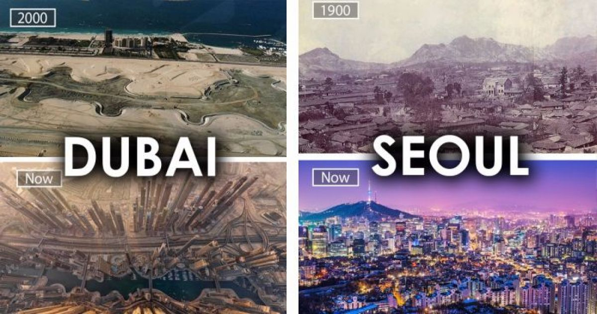 Incredible Transformations of Famous Cities Today